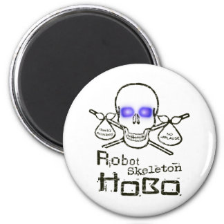 Robot Skeleton Hobo Magnet