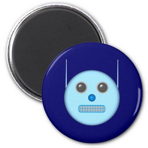robot smilie magnet