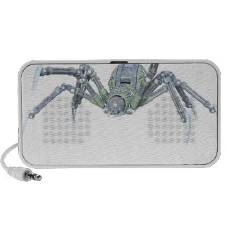 Robot Spider in Green and Silver Speaker System