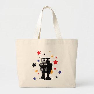 Robot Star Large Tote Bag