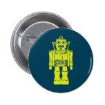 Robot Sticker 6 Cm Round Badge