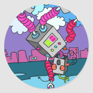 Robot stickers by DAL