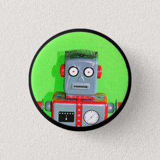 Robot toy 1 3 cm round badge