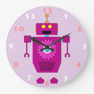 ROBOT TOY WITH NUMERALS Kids Wall Clock