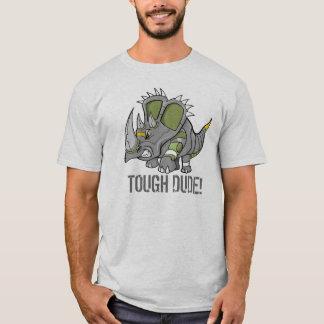 Robot Triceratops Dinosaur Tough Dude T-Shirt