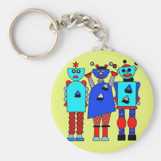Robot Trio Key Ring