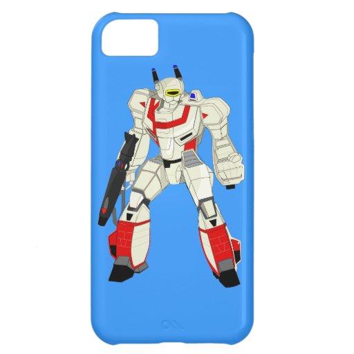 Robot Warrior iPhone 5 Case Blue
