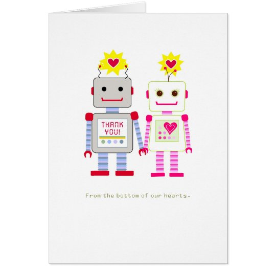 Robot Wedding Thank You Cards
