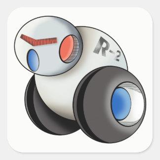 Robot WheelRobo Square Sticker