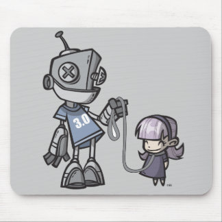 Robot With Child Mouse Mat