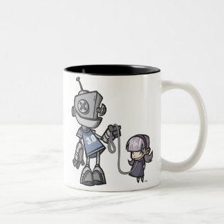 Robot-with-Child Two-Tone Coffee Mug