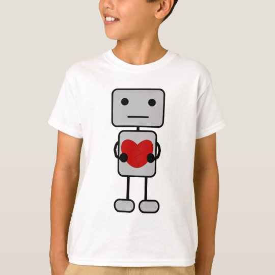 Robot with Heart T-Shirt