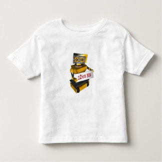 """ROBOT WITH """"LOVE ME"""" SIGN T SHIRT"""