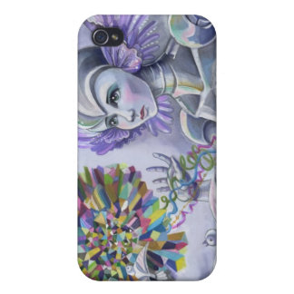 Robot Woman with a Starlike Love- Crystal Heart iPhone 4 Case