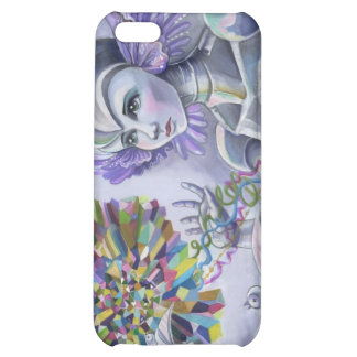 Robot Woman with a Starlike Love- Crystal Heart Cover For iPhone 5C