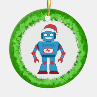 Robot Wreath Christmas Ornament