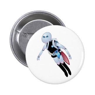 Robotic Cops 2099 Pinback Button