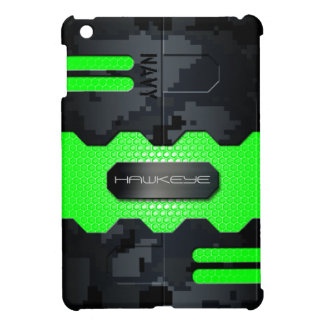 Robotic Navy Digital Camouflage Case Cover For The iPad Mini