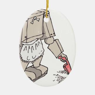 Robotic Vacuum Cleaner Christmas Ornament