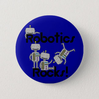 Robotics Rocks 6 Cm Round Badge