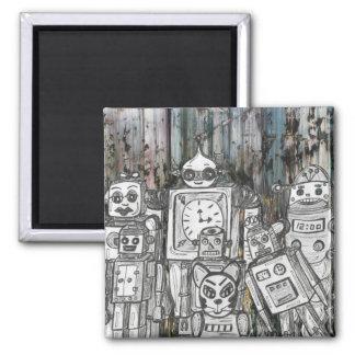 Robots 11 square magnet