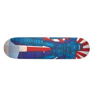 robots 21.6 cm old school skateboard deck