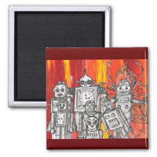 Robots 7 square magnet