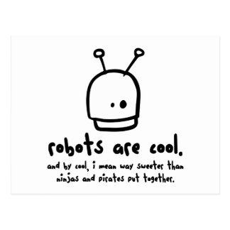 robots are cool1 postcard