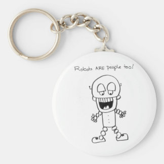 Robots Are People Too Key Ring