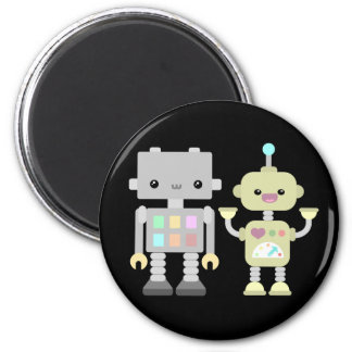 Robots At Play 6 Cm Round Magnet