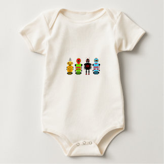 Robots Attack! Baby Bodysuit