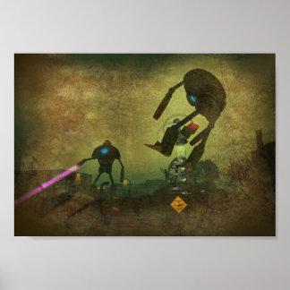 Robots Attack Print
