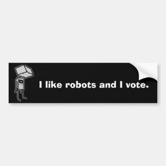 robots bumper sticker
