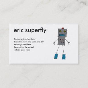 Robot business cards zazzle uk robots business card colourmoves