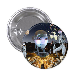 Robots in space pins
