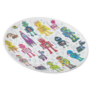 Robots in Space Plate