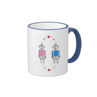Robots Love Ringer Coffee Mug