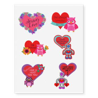 Robots, Owls and Hearts   Valentines