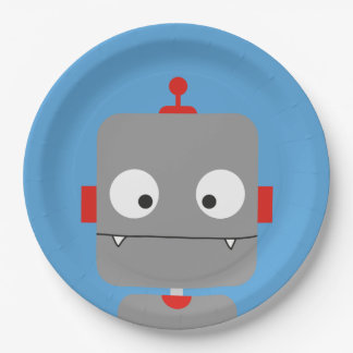 Robots Party Plates 9 Inch Paper Plate