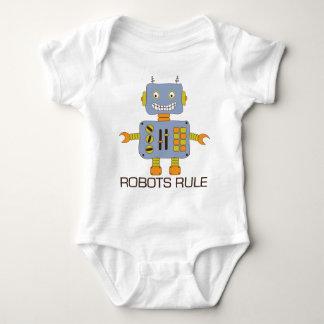 Robots Rule Baby Bodysuit