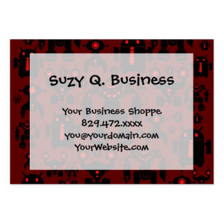 Robots Rule Fun Robot Silhouettes Red Robotics Pack Of Chubby Business Cards