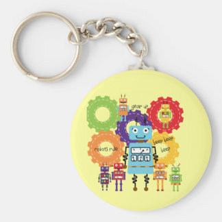 Robots Rule Key Ring