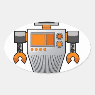 robottattoobro copy.jpg oval sticker