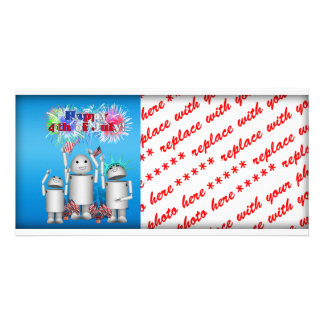 Robox9 Family Celebrate the 4th of July Photo Greeting Card