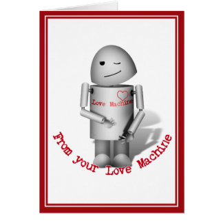 Robox9 - From  Your Love Machine Greeting Card