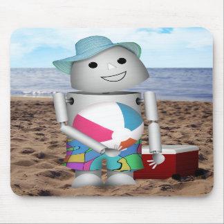 Robox9 has A Day at the Beach Mousepad