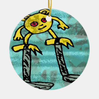 Robs little monster #2 christmas ornament