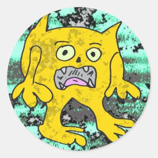 Robs little monster #3 round sticker