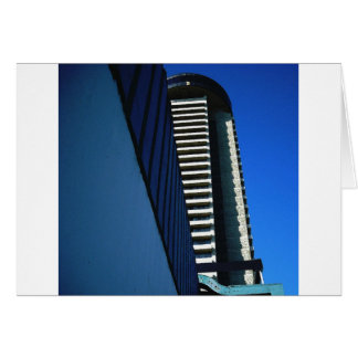 Robson Street Revolving Restaurant Hotel Greeting Card