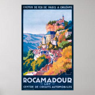 Rocamadour Vintage Travel Poster